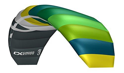 Crosskites Lenkmatte für ambitionierte Kiter Air 1.8 Green-Yellow R2F Lenkdrachen 2-Leiner Kite Kinderdrachen Stranddrachen