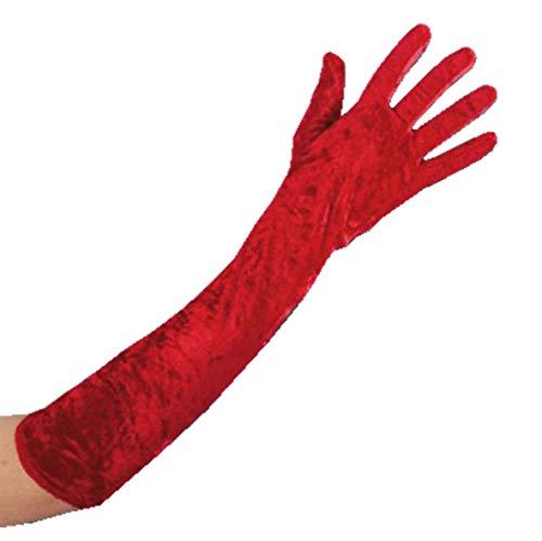 PELATELLI Handschuhe lang Rossi Chenille 50 cm