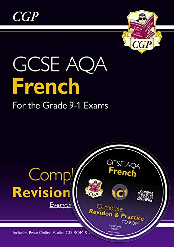 GCSE French AQA Complete Revision & Practice (with CD & Online Edition) - Grade 9-1 Course (CGP GCSE French 9-1 Revision)