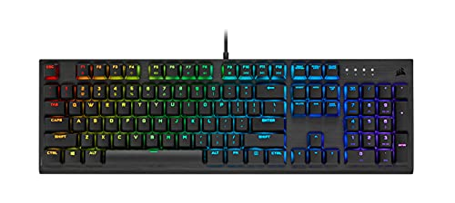 Corsair K60 RGB Pro Low Profile Mechanical Gaming Keyboard - CHERRY MX Low Profile SPEED Mechanical Keyswitches – Slim and Streamlined Durable Aluminum Frame - Customizable...