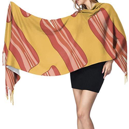Creatief ontbijt vlees voedsel Ham sjaals en wraps warme kasjmier grote sjaal vrouw sjaal 77