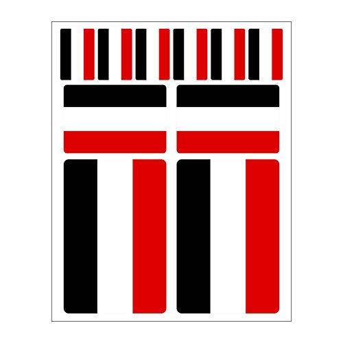 Generisch 10 Stück Flaggen Aufkleber Deutsches Kaiserreich Reich Set | Sticker Deutschland Germany Autoaufkleber