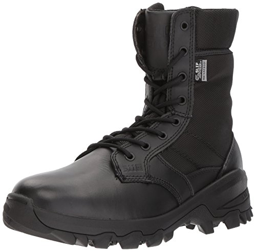 5.11 Tactical Men's 8-Inch Black Leather Speed 3.0 Waterproof Combat Military Boots, Black, 41 EU, Style 12371