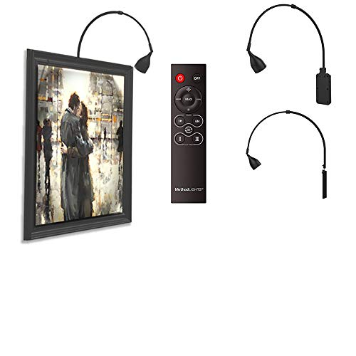 Method Lights ML-FM Picture Light Frame Mounted LED, Charge Battery On The Wall, Remote Control