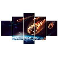 キャンバスモダンプリントモジュラーホームデコレーション5個/個スペースロック絵画HDウォールアートリビングルーム用写真-30x40cmx230x60cmx230x80cmx1フレームなし