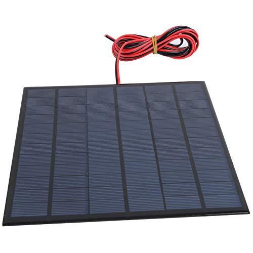 Qqmora Tablero de batería DC18V 4.5W Tablero de Fuente de alimentación epoxi con Cable Rojo Negro de 2 Metros para energía de batería para automóvil, Bote para Camping para Motocicleta, RV