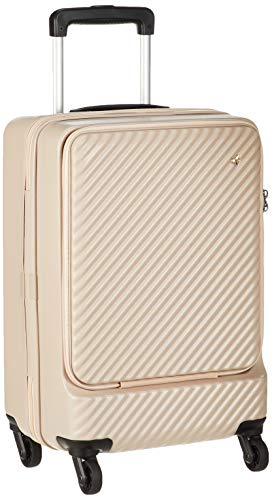 [ハント] スーツケース マイン ストッパー付き ジッパータイプ 48cm 33L 機内持込みサイズ フロントオープンタイプ 05744 機内持ち込み可 34L 48 cm 3.3kg ダリアベージュ