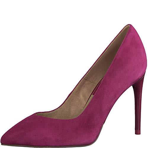 Tamaris Damen Pumps 22443-24, Frauen KlassischePumps, Court-Shoes Absatzschuhe Abendschuhe stöckelschuhe Frauen weibliche,Cranberry,38 EU / 5 UK