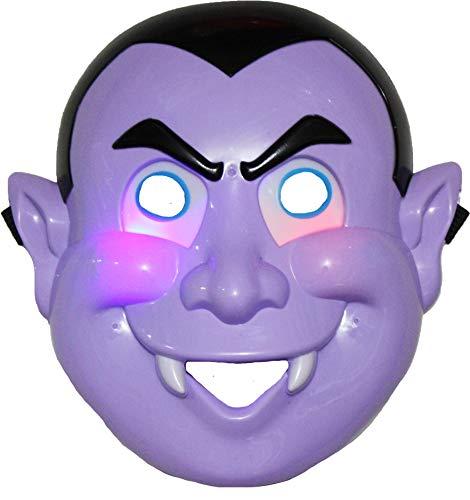 Petitebelle pompoen vampier led masker aankleden kostuum