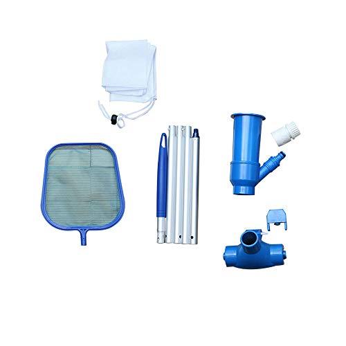 Powstro Herramienta de mantenimiento de piscinas Kit de red de limpieza de cabezales de succión Accesorios de herramientas de limpieza para piscinas elevadas, spas, estanques y fuentes