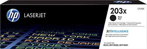HP 203X CF540X Cartuccia Toner Originale, da 3200 Pagine, ad Elevata Capacità, Compatibile con le Stampanti HP Color LaserJet Pro MFP Serie M250 e M280, Nero