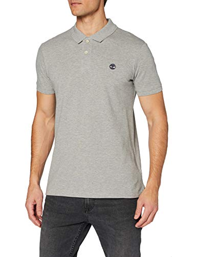 Timberland SMU SS Pique Polo, Gris (Medium Grey Heather 052)