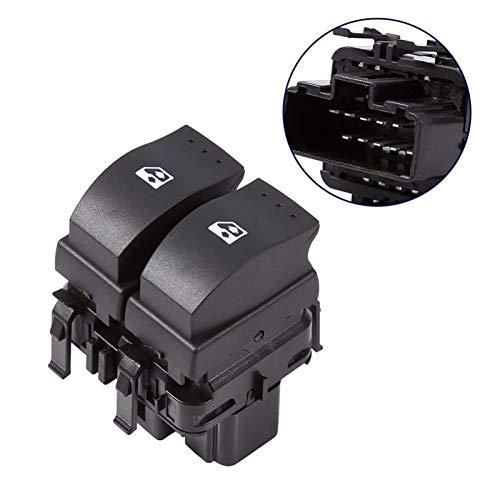 OLDJTK Botón de Interruptor de Doble Control de Ventana eléctrica de 1 PCS for Renault Clio II B0 B1 B2 CB0 CB1 CB2 SB0 SB1 SB2 1998-2014