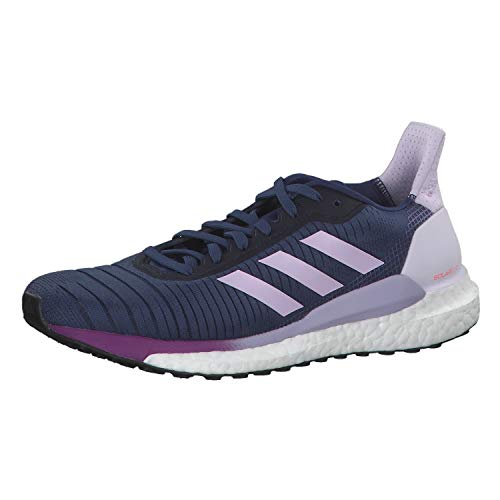 adidas Solar Glide 19 W, Zapatillas para Correr para Mujer, Tech Indigo/FTWR White/Purple Tint, 40 EU