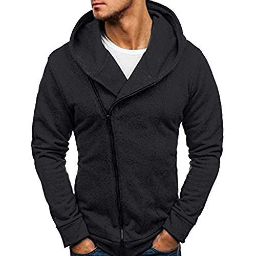 SANFASHION Herren Langarm Herbst Winter Casual Sweatshirt Hoodies Coat Trainingsanzüge Jacke