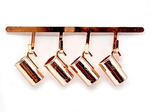 Melody Jane Dolls Houses Puppenhaus 4 Kupfer Hängende Krügen & Rack Miniatur 1:12 Küchen Zubehörset