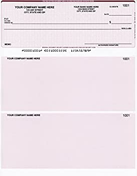 500 Printed Computer Laser Checks - Check on Top - Compatible for QuickBooks/Quicken Software - Basket Burgundy