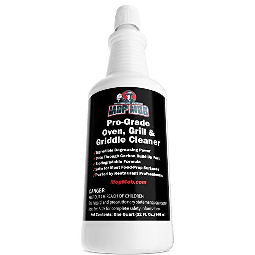 Commercial Grill and Oven Cleaner 32 Oz Concentrate 1pk . Heavy-Duty  Fast-Acting Degreaser Solution Removes Carbon  Grime  Burnt Food and Oil for Griddles  Fryer Baskets and Kitchen Cooking Surfaces