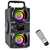 Bluetooth Speakers,40W Portable Bluetooth Speaker Dual Subwoofer,LED Colorful Light,Bluetooth 5.0 Wireless Stereo Party Speaker,10H Playtime Wireless Outdoor Boombox Speaker for Home,Camping,Travel