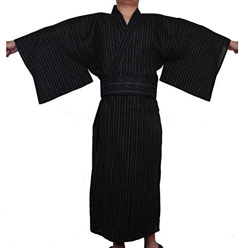 Kimono japonés Yukata japonés para hombres Home Robe Vestido japonés para pijamas # 02