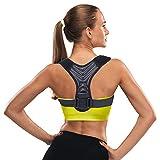 Posture Corrector for Women and Men, Upper Back Brace for Posture Support, Adjustable Back Straightener,Providing Pain Relief from Neck, Back & Shoulder (L)