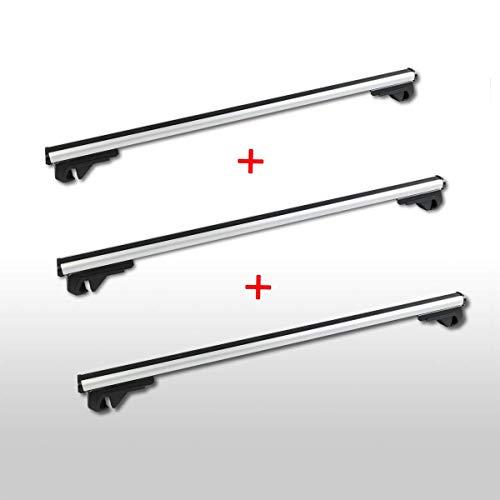 Dakdrager geschikt voor Peugeot Expert dakbagagedrager vanaf bouwjaar 2007 3X aluminium 140 cm chroom
