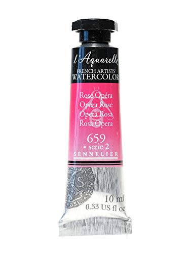 Sennelier L'Aquarelle French Artists' Watercolor Opera Rose 10 ml C36 [Pack of 3 ]