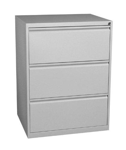 Profi Stahl Büro Hängeregistratur Schrank Bürocontainer 1010 x 760 x 620mm (HxBxT) mit 3 Schüben, doppelbahnig 561320 kompl. montiert und verschweißt