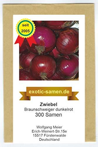 Zwiebel - Braunschweiger, dunkelrot (300 Samen)