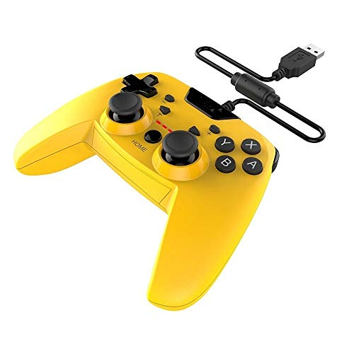 Yingm Manette de Jeu avec Joystick Compatible avec N-Switch / PS3 / Android et Ordinateur câblé Gamepad Double Vibration Turbo 3m Câble TV Box Gamepad Compatibilité Universelle