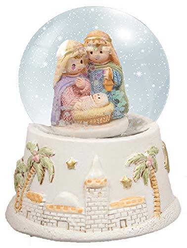 CBC Weihnachtskugel für Kinder, Motiv Heilige Familie – Jesus Maria Josef – 53,3 cm – Schneekugel aus Harz