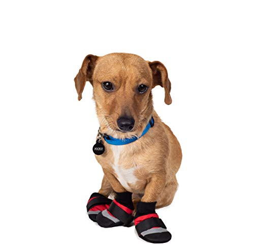 Ethical Pet Fashion Pet Extreme All Weather Boots for Dogs, Dog Boots for Snow, Dog Boots for Small Dogs, Winter Dog Boots, Waterproof, Rain Gear, Adjustable / Reflective Strap, Small, 20RSM, Black