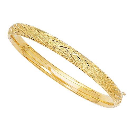 Armreif, Gelbgold, glitzernd, Diamantform, 17,8 cm