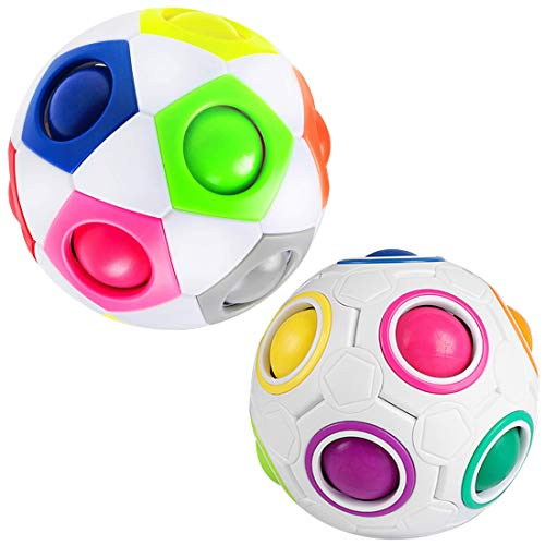 Rainbow Magic Ball ZSWQ-3D Puzzle Ball Speed Cube Rubix Cube para niños y Adultos, Juguete mágico como Regalo/Regalo, Bola antiestrés, Rompecabezas