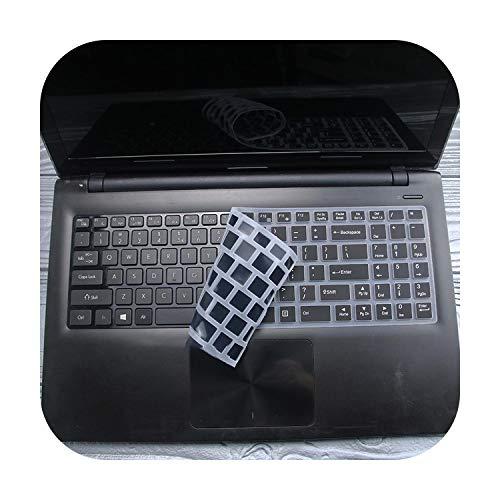 TOIT Tastaturschutz aus Silikon für Laptop 15,6 Zoll Lenovo Ideapad 100 Ideapad 100-15 100-15Ibd B50-10 B50-50 80S2-Schwarz