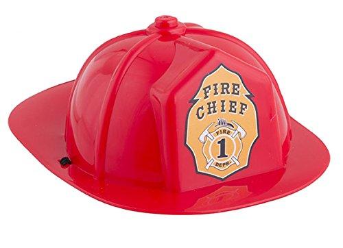 erdbeerclown - Mini Feuerwehrhelm mit Band - Feuerwehr Zubehör Helm, Rot