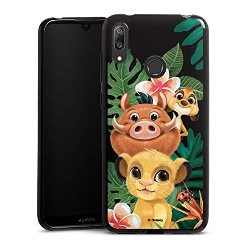 DeinDesign Silikon Hülle kompatibel mit Huawei Y7 (2019) Case schwarz Handyhülle Timon und Pumbaa König der Löwen Disney
