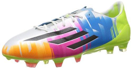 Adidas adizero F50 TRX FG Messi Fußballschuh Herren, weiß - blau - grün, 44 2/3 EU