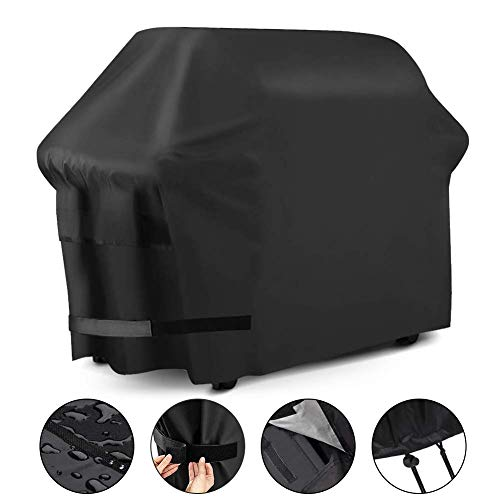 WEKSI Heavy Duty Waterproof Barbecue Gas Grill Cover, 57-inch BBQ Cover, Special Fade and UV Resistant Material, Durable and Convenient, for Weber Char-Broil Nexgrill Brinkmann and More Covers Grill