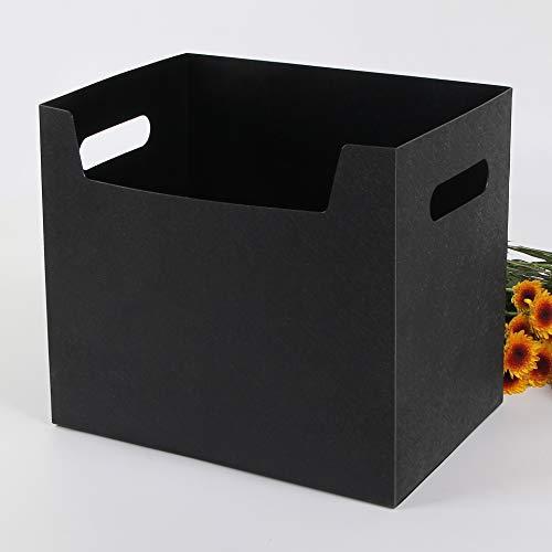 Huafeng Schreibtisch Buch Aufbewahrungsbox Einfache Office Buch pp Kunststoff-Box Multifunktionsbriefpapieraufbewahrungsbehälter (Color : Black)