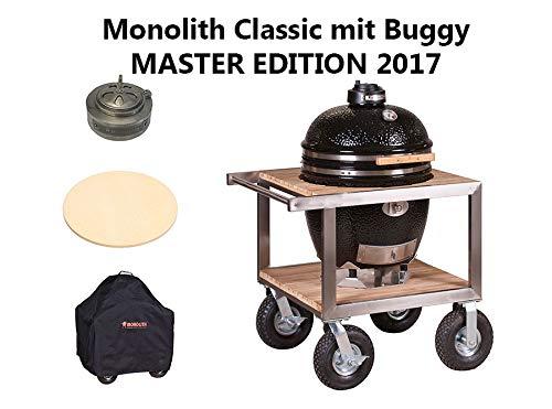 Monolith Keramikgrill Classic Pro-Serie 1.0 mit Buggy und Sonderzubehör