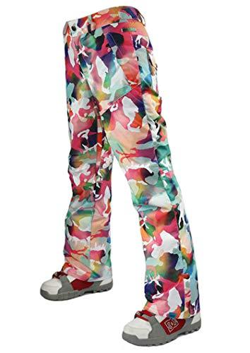 APTRO Damen Skihose Outdoor Winddicht Wasserdicht Warm gefütterte Hosen Tarnung L