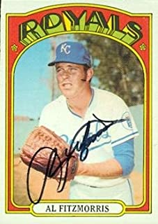 Autograph Warehouse 98201 Al Fitzmorris Autographed Baseball Card Kansas City Royals 1972 Topps No. 349