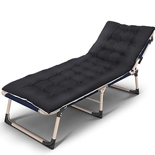 Fauteuils inclinables Feifei Lit Pliant Lounge Chair Casual Widen Bureau Unique Pause déjeuner Siesta Lit Adulte Camp lit Paresseux Pliant (Couleur : C)