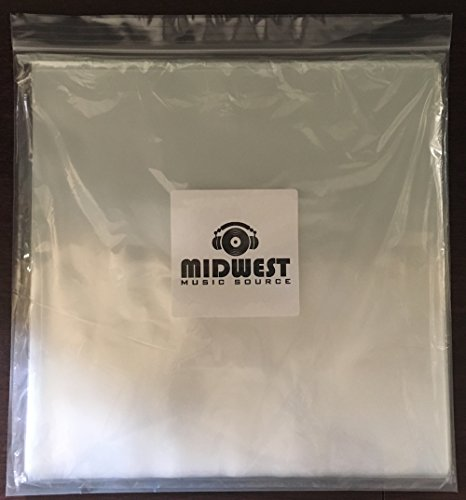 "(50) - 3mil 12"" Plastic Outer Vinyl Record Sleeves"