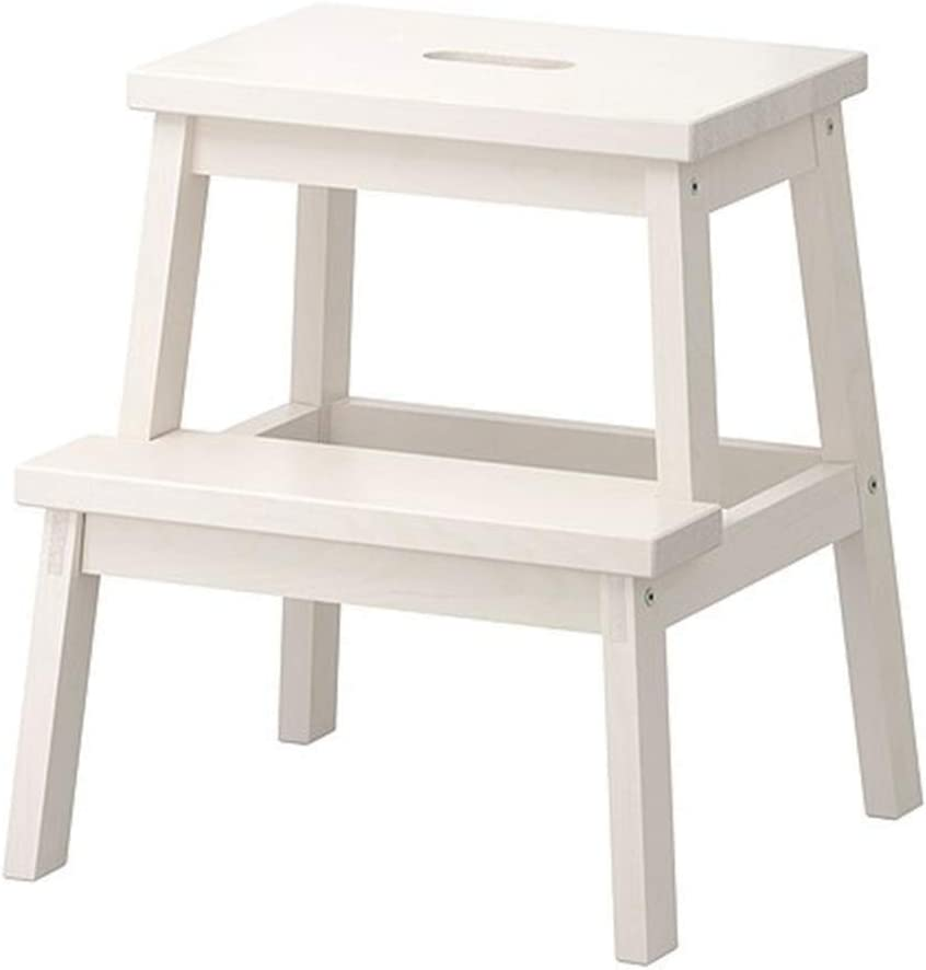 Department store NYDZDM Solid Wood 2 Step Folding Ladder Ranking TOP15 Stool Multi-Function St