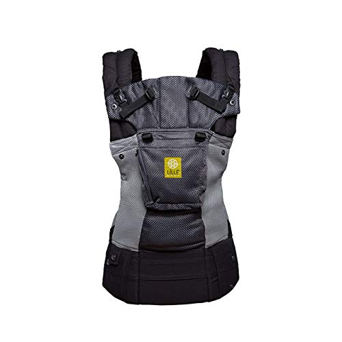 LLLbaby Complete Airflow Six-Position Baby Carrier, Charcoal/Silver