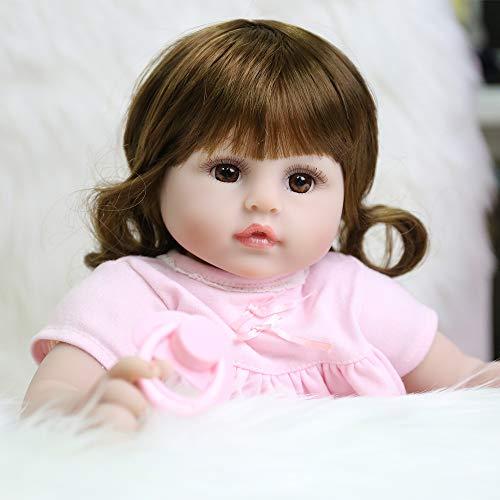 CHAREX Realistic Reborn Baby Doll, 18 Inch Handmade Newborn Weighted Soft Baby Dolls, Vinyl Weighted Doll with Giraffe...