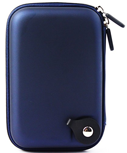 for Small Electronics Accessories Travel Case Organizer Cable Bag Waterproof Shockproof Carrying Case USB, Phone,GPS, Powerbank Charger Hard Shell Pouch Portable Universal (Dark Blue)