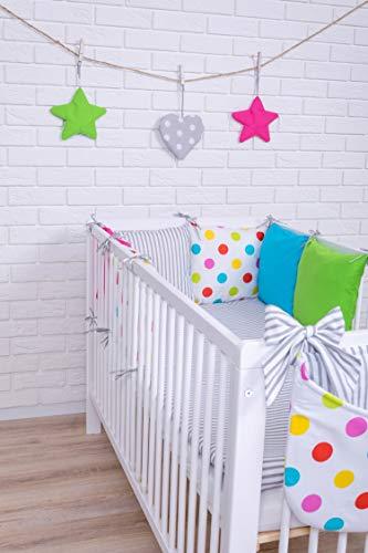 Biancheria da letto per neonati, design 18, con cuscini paracolpi, 100 x 135 cm
